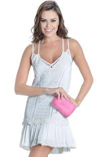 9e19ccd45 ... Vestido Off White Renda Guipir Colcci - Feminino-Off White