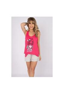 Pijama Feminino Serra E Mar Modas Short Doll Tal Mãe Pink