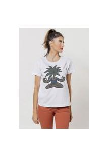 Camiseta Jay Jay Basica Zen Coconuts Branca Dtg