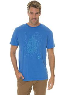 Camiseta Timberland Sunny Town Masculina - Masculino-Azul