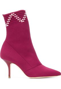 Malone Souliers Ankle Boot 'Mariah' De Couro - Rosa