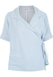 Olympiah Blusa Com Amarração - Azul