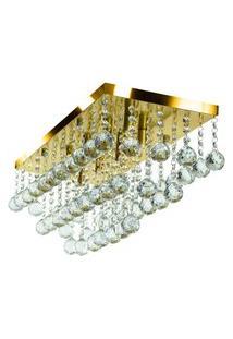 Lustre Egípcio Cleópatra Cristal Legítimo 60X25 Cm Dourado