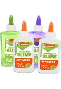 Conjunto De Acessórios - Faça Seu Slime - Nickelodeon - Verde E Roxo Com Ativador - Toyng