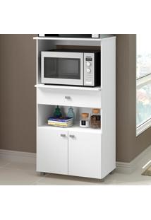 Armário De Cozinha Multiuso 2 Portas 1 Gaveta 4060G.010 Branco - Multimóveis