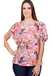 Blusa Love Poetry Viscose Estampada Laranja