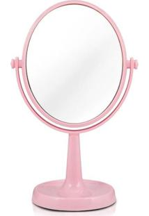 Espelho Jacki Design De Bancada Dupla Face Awa16127-Rs Rosa Unico