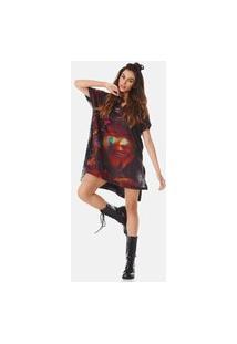 Camiseta Yacamim Ampla Multicolorido