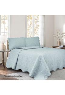 Conjunto De Colcha Ilusion Garden King Size- Azul Claro