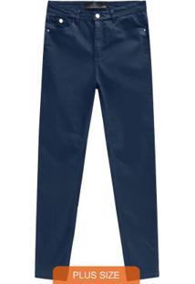 Calça Azul Marinho Skinny Sarja Power