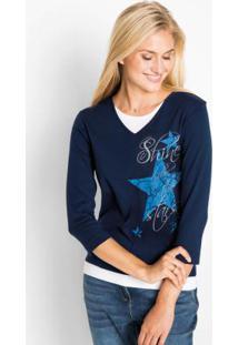 43d14d9e1f Blusa Azul Bonprix feminina