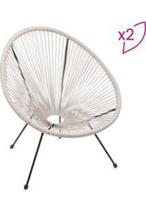 Or Design Jogo De Cadeiras Acapulco Fendi & Preto 2Pã§S