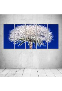 Quadro Decorativo - Dandelion Neon - Composto De 5 Quadros