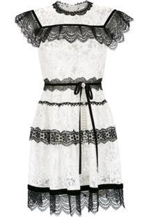Martha Medeiros Vestido 'Pitty' Renda Francesa - Branco