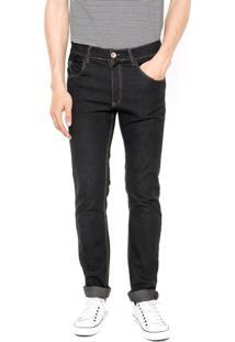 Calça Jeans Rock Blue Skinny Pespontos Azul