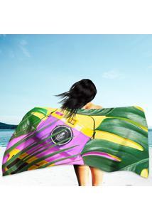Toalha De Praia / Banho Colorful Yellow Purple Summer Vibes