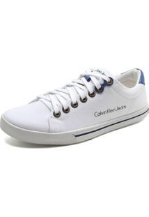 Tênis Calvin Klein Logo Branco/Azul