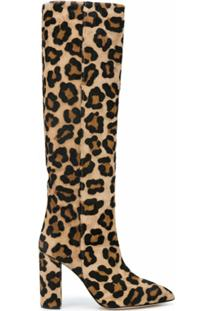 Paris Texas Bota Com Estampa De Leopardo - Marrom