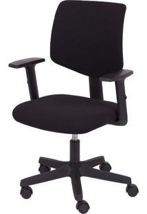 Cadeira Office New- Preta & Prateada- 105X47X46Cm