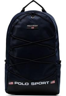 Polo Ralph Lauren Logo Print Backpack - Azul