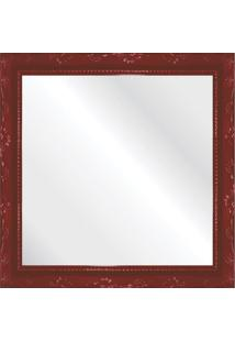 Espelho Brilho Rococo Vermelho 31X31Cm