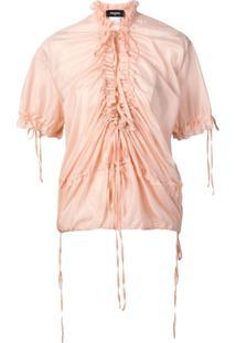 Dsquared2 Blusa Com Franzido - Rosa