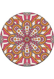 Tapete Love Decor Redondo Wevans Mandala Rosa 94Cm - Rosa - Dafiti