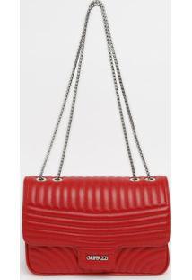 Bolsa Retangular Com Pespontos & Tag - Vermelha- 1Griffazzi