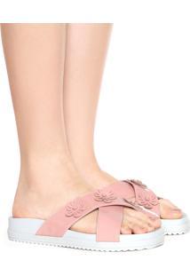 Rasteira Birken Dafiti Shoes Verniz Nude