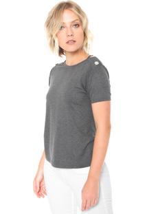 Camiseta Lunender Glitter Cinza