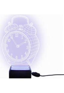 Luminária Acrilize Relógio 3D Branca