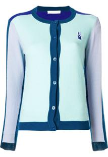 Peter Jensen Colourblock Cardigan - Azul