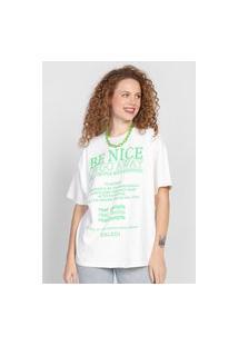 Camiseta Colcci Be Nice Or Go Away Branca