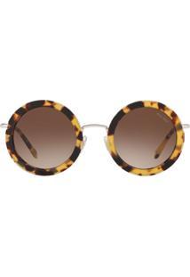 Miu Miu Eyewear Óculos De Sol Délice - Marrom