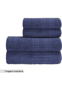 Toalha De Rosto Loft- Azul Escuro- 45X70Cm- Camecamesa