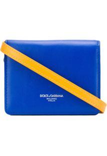 Dolce & Gabbana Bolsa Mini Com Estampa De Logo - Azul