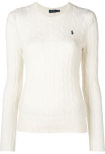 Polo Ralph Lauren Suéter Com Logo - Branco