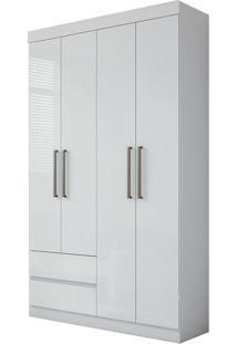 Guarda Roupa Zeus Plus 4 Portas Branco