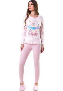 Pijama Unicórnio Astronauta Feminino Adulto