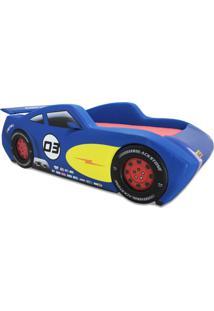 Cama Cama Carro Racing Azul