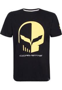 Camiseta Masculina Skull Racing Corvette - Masculino
