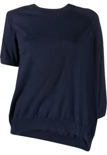 Maison Margiela Blusa Assimétrica De Tricô - Azul