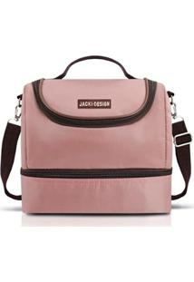 Bolsa Térmica Com 2 Compartimentos Jacki Design De Poliéster + Folha De Alumínio - Feminino-Rosa
