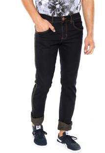 Calça Jeans Fiveblu Reta Derby Azul