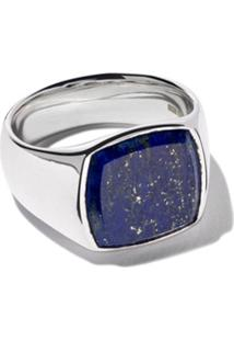 Tom Wood Cushion Blue Lapis Ring - Silver