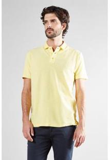 Polo Reserva Cont. Piquet Flame Mc - Masculino-Amarelo