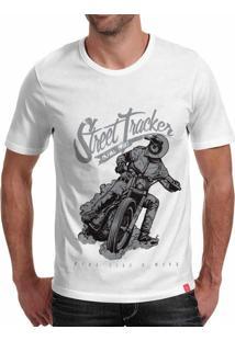 Camiseta Casual Sport Street Tracker Branca