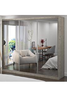 Guarda-Roupa Casal 3 Portas Com 3 Espelhos 100% Mdf 1902E3 Demolição - Foscarini