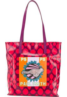 Ps Paul Smith Bolsa Tiracolo Live Faster - Roxo