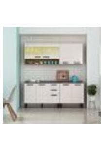 Cozinha Compacta New Jazz Iv 9 Pt 2 Gv Off White E Freijó